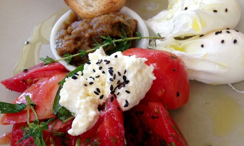 Tomato and Ricotta with Eggplant