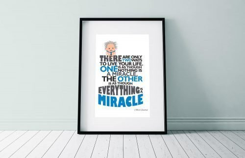 Einstein quote Miracles